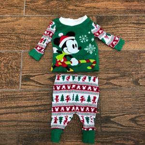 Disney Christmas Pajamas Size 0-3M